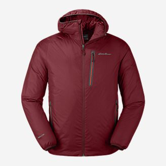 Men's EverTherm Down Hooded Jacket in Red