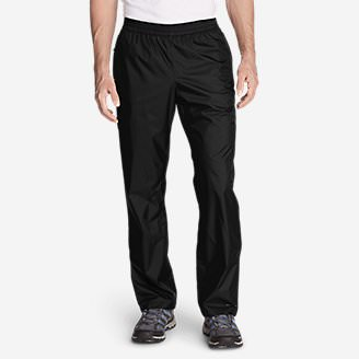 Men's Cloud Cap Rain Pants in Black