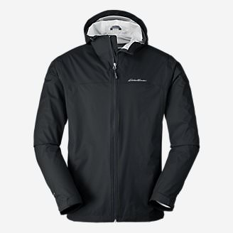 Men's Cloud Cap Lightweight Rain Jacket Tall in Black