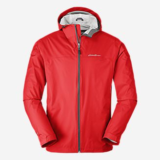 Men's Cloud Cap Lightweight Rain Jacket Tall in Red