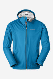 Men's Cloud Cap Lightweight Rain Jacket Tall in Blue
