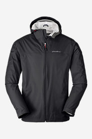 Men's Cloud Cap Lightweight Rain Jacket Tall in Gray