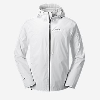 Men's Cloud Cap Lightweight Rain Jacket Tall in White