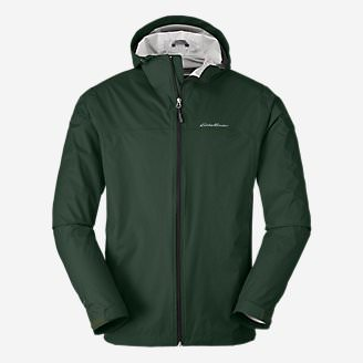 Men's Cloud Cap Lightweight Rain Jacket in Green
