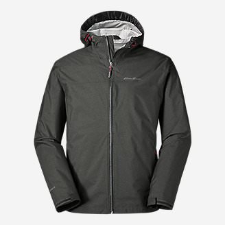 Men's Cloud Cap Lightweight Rain Jacket in Gray