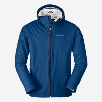 Men's Cloud Cap Lightweight Rain Jacket in Blue