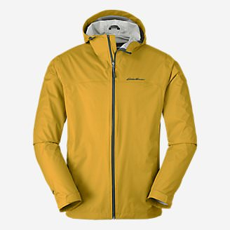 Men's Cloud Cap Lightweight Rain Jacket in Yellow