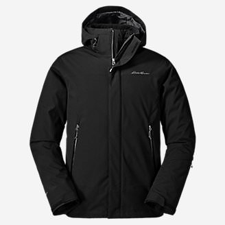 Men's Powder Search 2.0 3-In-1 Down Jacket in Black