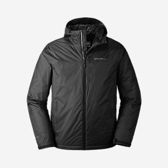 Men's Cloud Cap Insulated Rain Jacket in Black