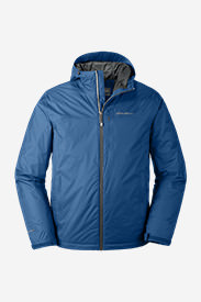 Men's Cloud Cap Insulated Rain Jacket in Blue
