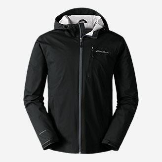Men's Cloud Cap Stretch Rain Jacket in Black