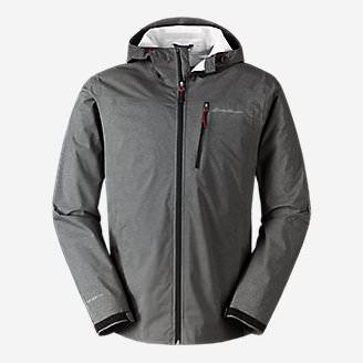 Men's Cloud Cap Stretch Rain Jacket in Gray