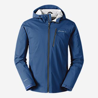 Men's Cloud Cap Stretch Rain Jacket in Blue