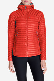 Women's MicroTherm® StormDown® Hooded Jacket in Red