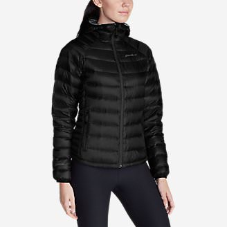 Women's Downlight StormDown Hooded Jacket in Black