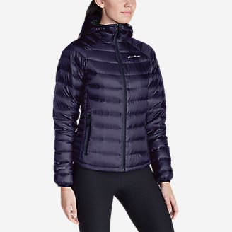 Women's Downlight StormDown Hooded Jacket in Purple