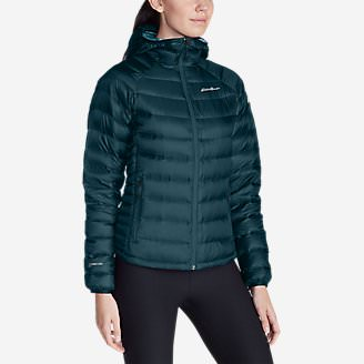 Women's Downlight StormDown Hooded Jacket in Green