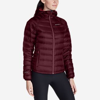 Women's Downlight StormDown Hooded Jacket in Red