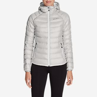 Women's Downlight® StormDown® Hooded Jacket in Gray