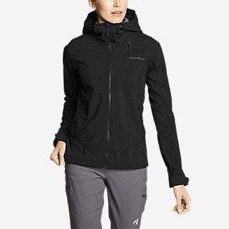 Women's Sandstone Shield Hooded Jacket in Black