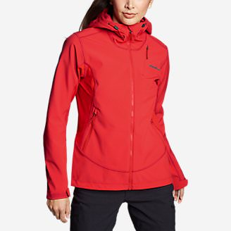 Women's Sandstone Shield Hooded Jacket in Red