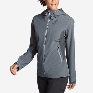 Women's Sandstone Shield Hooded Jacket in Blue