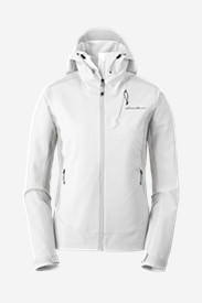 Women's Sandstone Shield Hooded Jacket in White