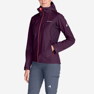 Women's Sandstone Shield Hooded Jacket in Purple