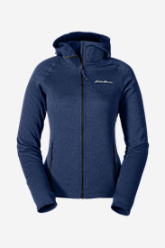 Women's High Route Fleece Hoodie in Blue