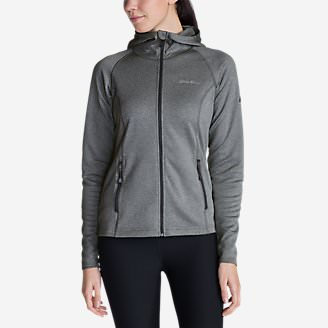 Women's High Route Fleece Hoodie in Gray