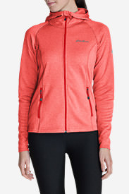 Women's High Route Fleece Hoodie in Orange