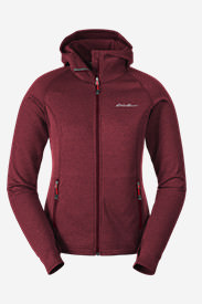Women's High Route Fleece Hoodie in Red