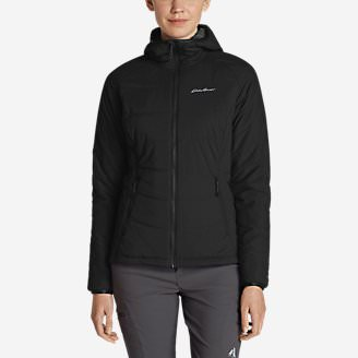 Women's IgniteLite Flux Stretch Hooded Jacket in Black