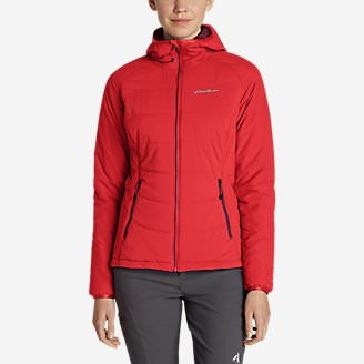 Women's IgniteLite Flux Stretch Hooded Jacket in Red
