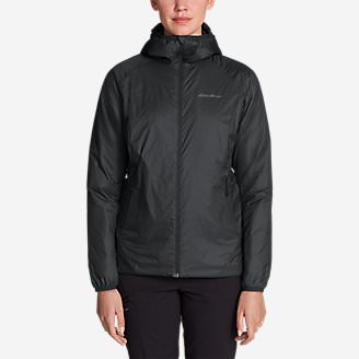 Women's EverTherm Down Hooded Jacket in Gray