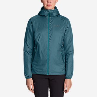 Women's EverTherm Down Hooded Jacket in Green