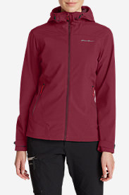 Women's Sandstone Thermal Hooded Jacket in Red