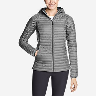 Women's MicroTherm 2.0 StormDown Hooded Jacket in Gray