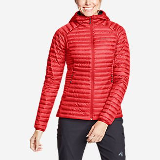 Women's MicroTherm 2.0 StormDown Hooded Jacket in Red