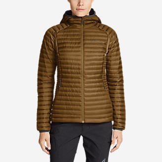 Women's MicroTherm 2.0 StormDown Hooded Jacket in Brown