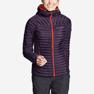Women's MicroTherm 2.0 StormDown Hooded Jacket in Purple