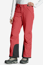 Women's Powder Search Insulated Pants in Red