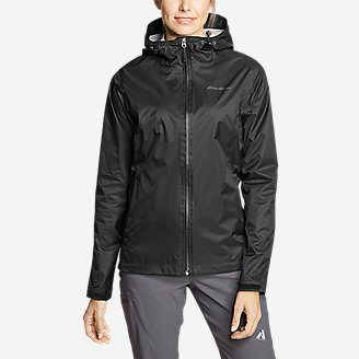 Women's Cloud Cap Lightweight Rain Jacket in Black