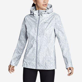 Women's Cloud Cap Lightweight Rain Jacket in Blue
