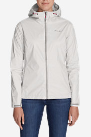 Women's Cloud Cap Lightweight Rain Jacket in Gray