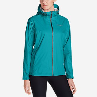 Women's Cloud Cap Lightweight Rain Jacket in Green