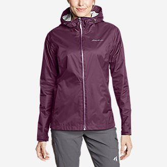 Women's Cloud Cap Lightweight Rain Jacket in Purple