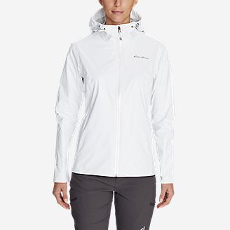 Women's Cloud Cap Lightweight Rain Jacket in White