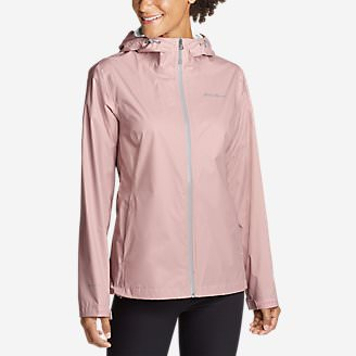Women's Cloud Cap Lightweight Rain Jacket in Red