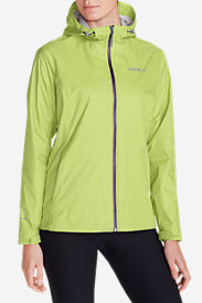 Women's Cloud Cap Lightweight Rain Jacket in Yellow